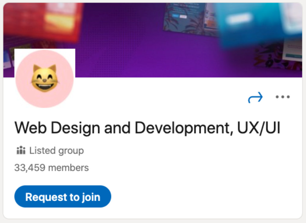 Web Design and Development, UX/UI LinkedIn Group for designers and developers