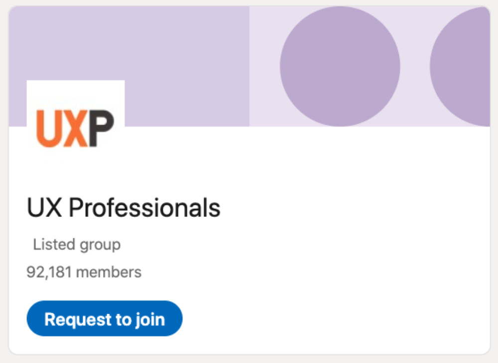 UX Professionals LinkedIn Group for designers and developers