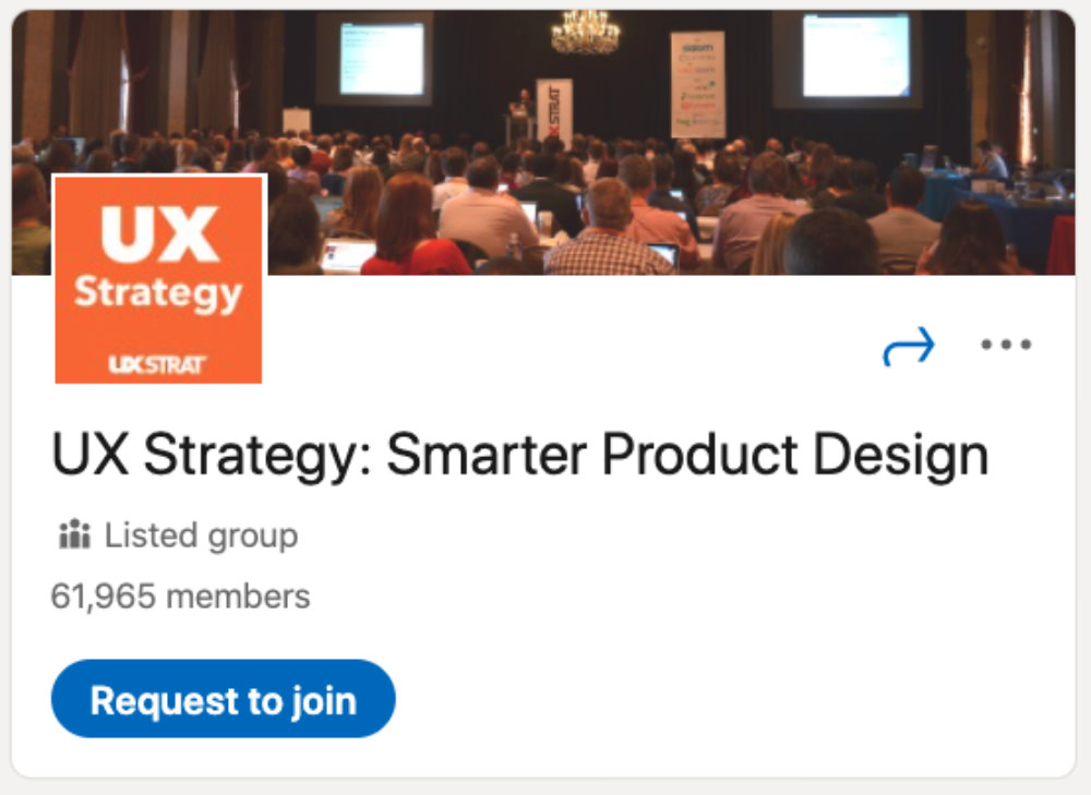 UX Strategy: Smarter Product Design LinkedIn Group for designers and developers