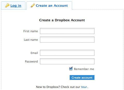 Login registration form ideas and beautiful examples hongkiat dropbox thecheapjerseys Image collections