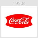 coca cola logo 1950