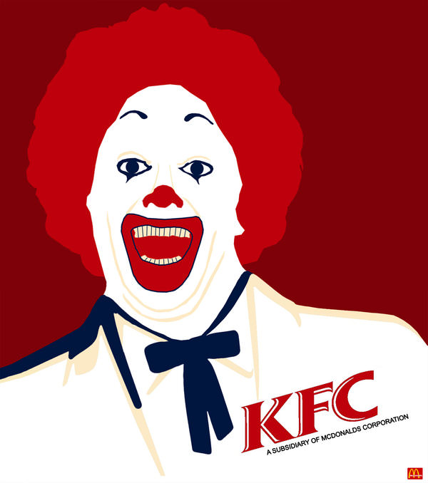 kfc - mcdonalds fried chicken