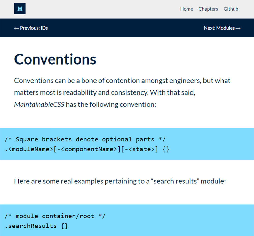maintainable css guide