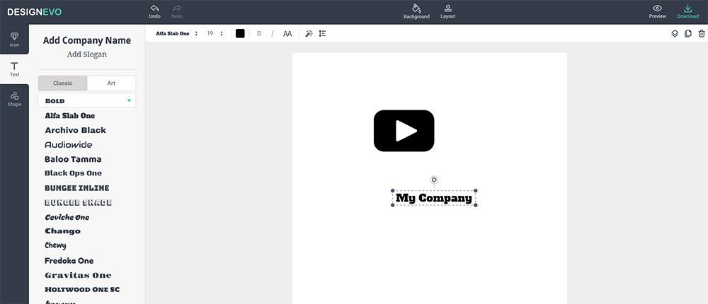 designevo logo creator