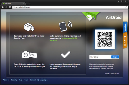 AirDroid Web