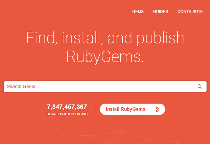 rubygems website gems management