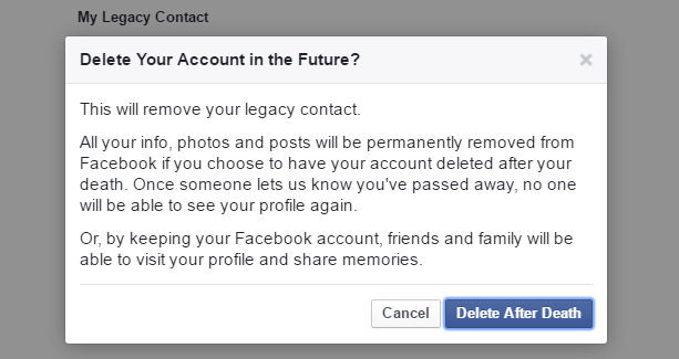 Delete Facebook Account after Death