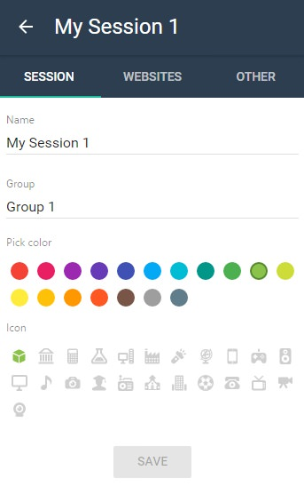organize multiple session