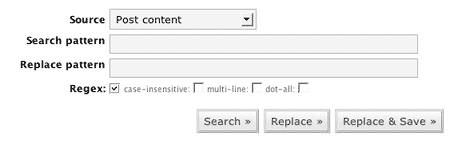 Search Regex plugin for WordPress
