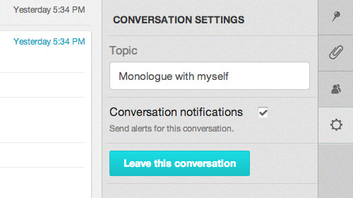 Conversation settings