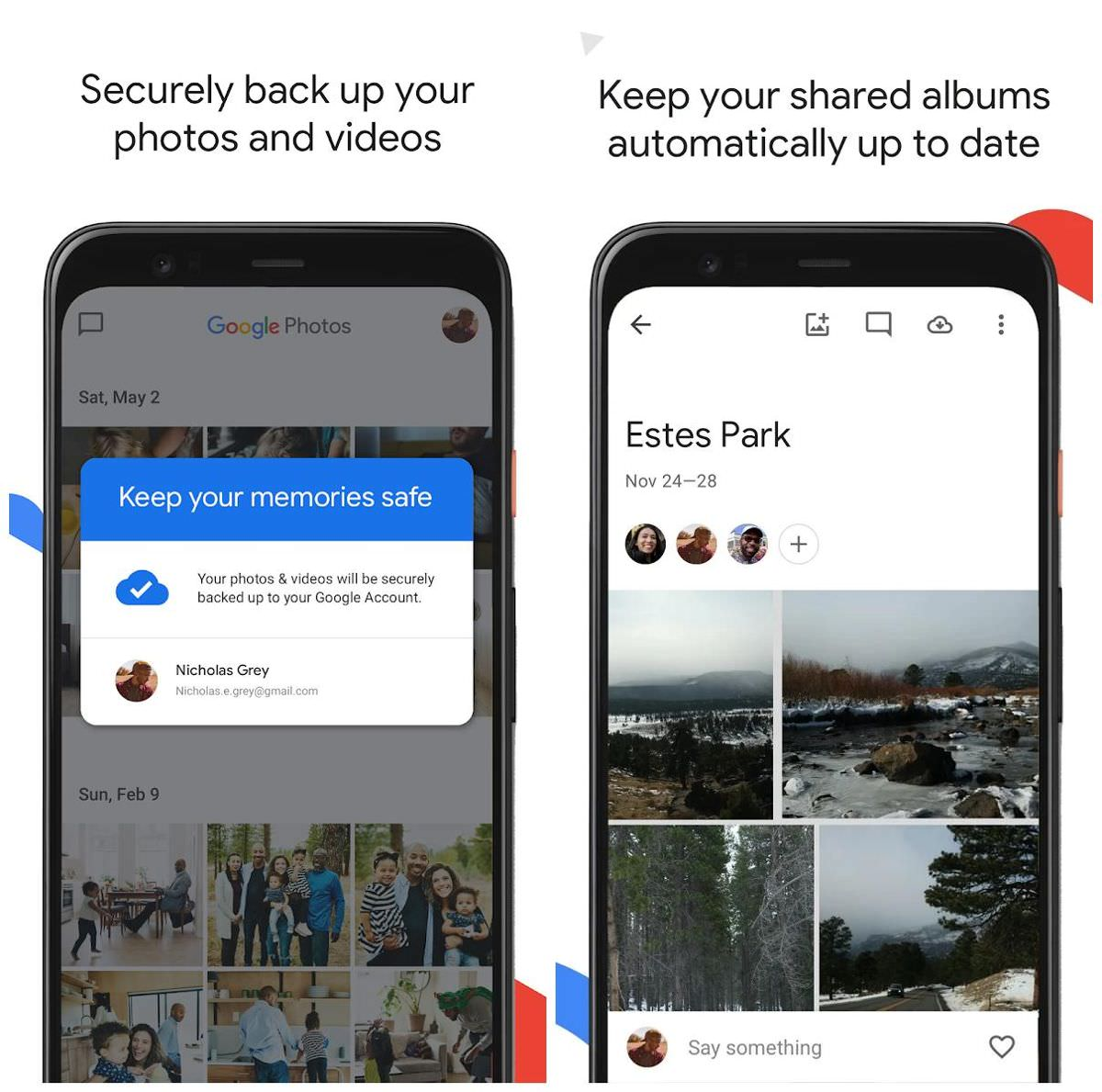 Opt for a cloud storage like Google Photos