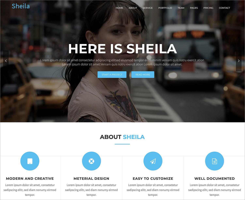 Sheila WordPress Theme