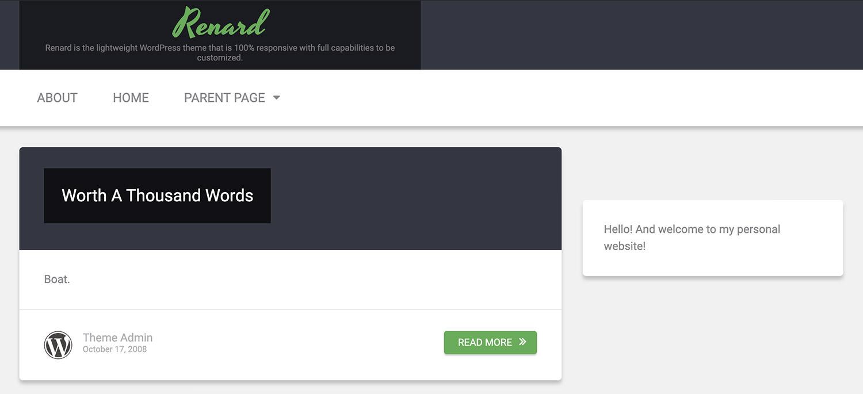 Renard WordPress Theme