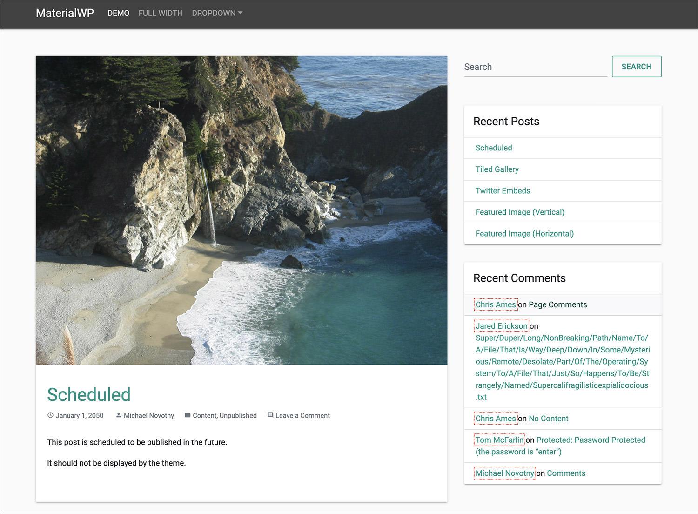 MaterialWP WordPress Theme