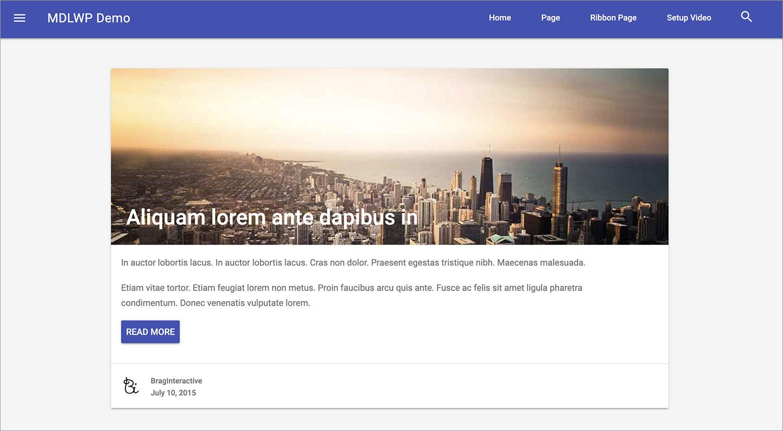 MDLWP WordPress Theme