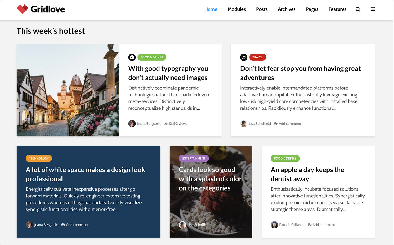Gridlove WordPress Theme