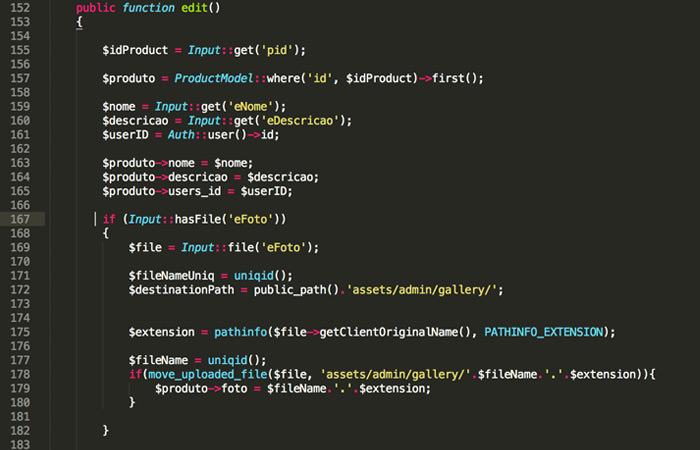Lavarel Code in Code Editor