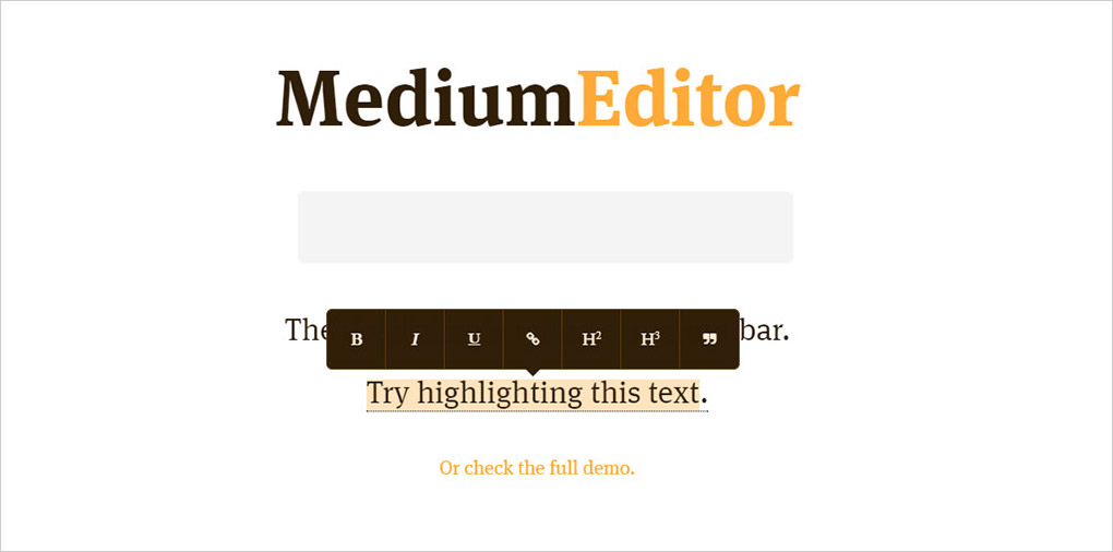 MediumEditor preview