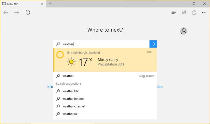 Cortana Weather
