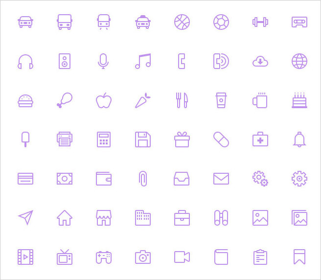 16px grid icons
