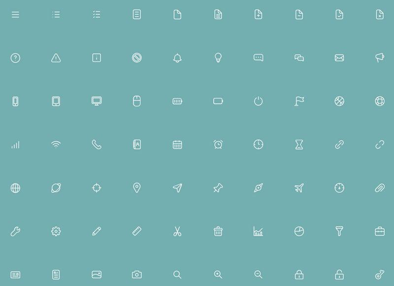 170 Thin Line UI Icons
