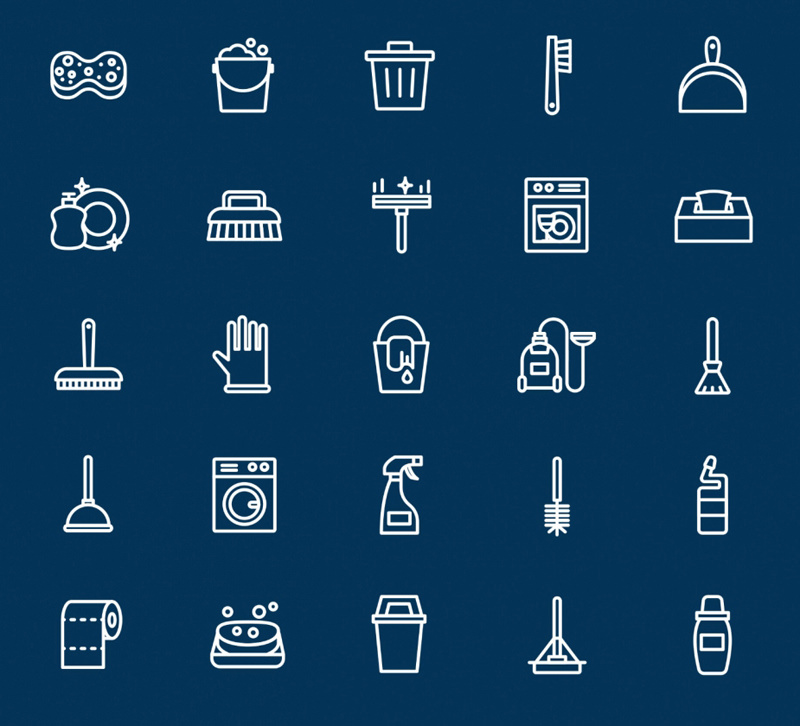25 Minimal Line Icons