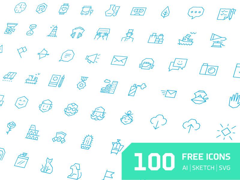 100 Free Angular Icons