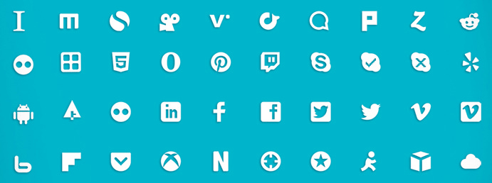 Free Social Media Mini Icons Pack PSD