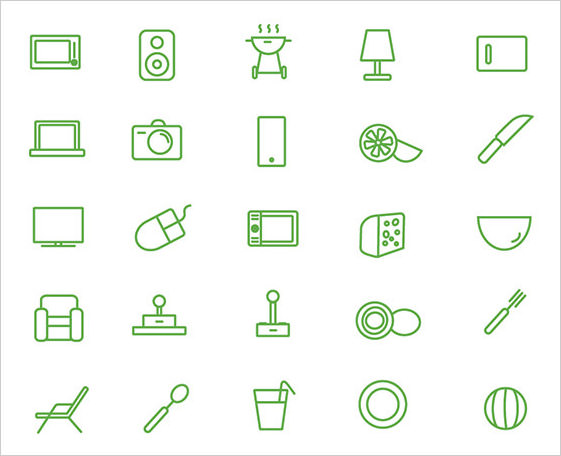mini House Icon Set (free)