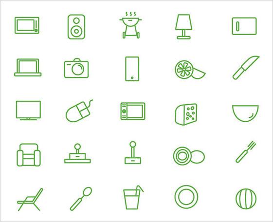 mini House Icon Set (free)