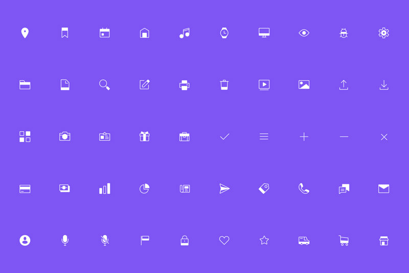 90 free line and solid icons for Sketch and Illustrator