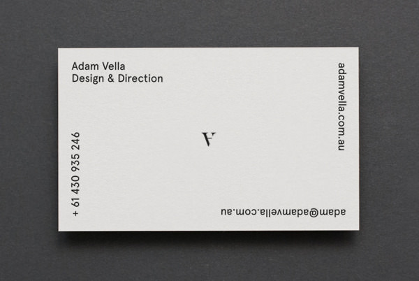 20 minimalistic professional business card designs hongkiat design direction by adam vella reheart Choice Image