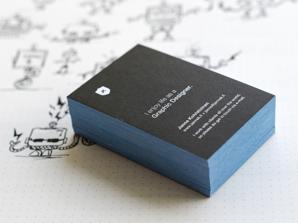 Minimalistic Business Card Designs For Your Inspiration Hongkiat - Personal business cards templates
