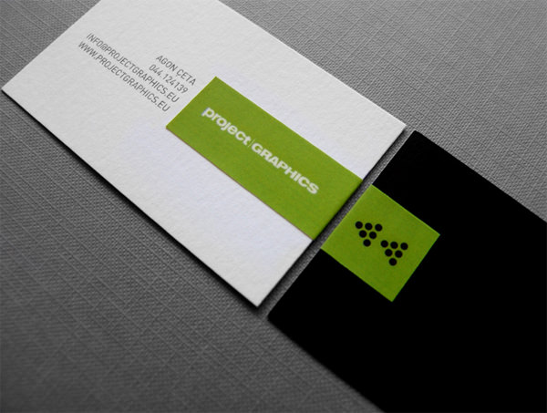 20 minimalistic business card designs for your inspiration hongkiat business cards by projectgraphics reheart Images