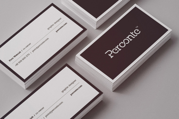 20 minimalistic business card designs for your inspiration hongkiat 3 perconte stationery by perconte reheart Images