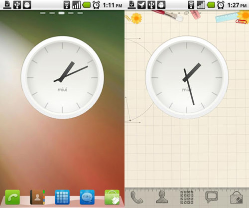 MIUI Analog Clock Widget