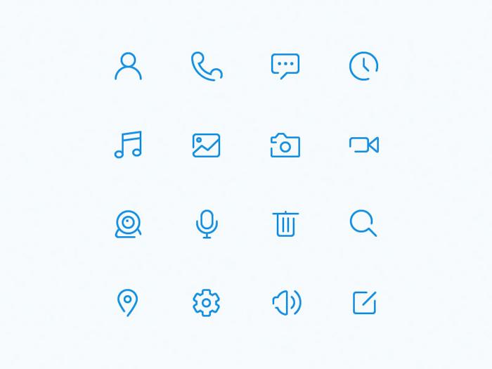 free minimalist icons