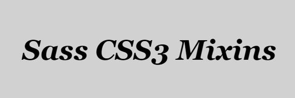 css3 mixins