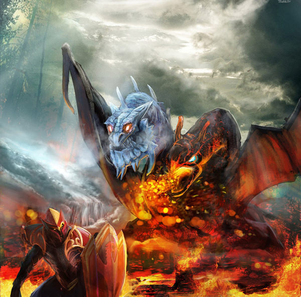 Dragon Knight Vs Jakiro