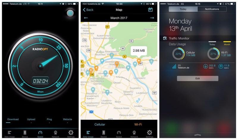RadioOpt Traffic Monitor & 3G/4G Speed