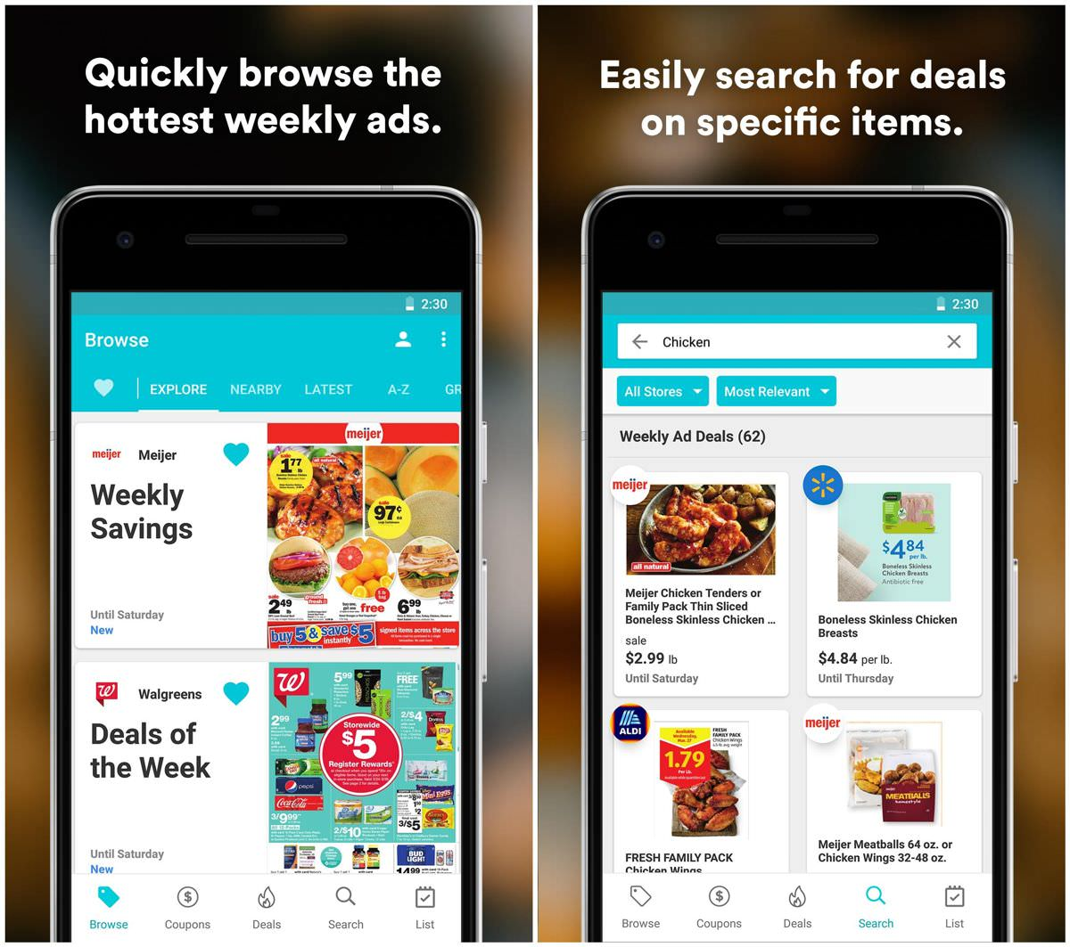 Flipp shows weekly flyers, deals, and coupons