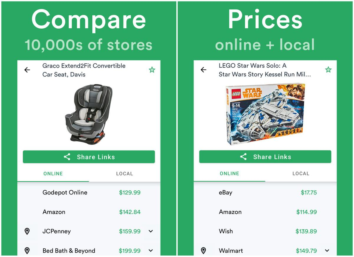 ShopSavvy lets you compare prices b/w stores