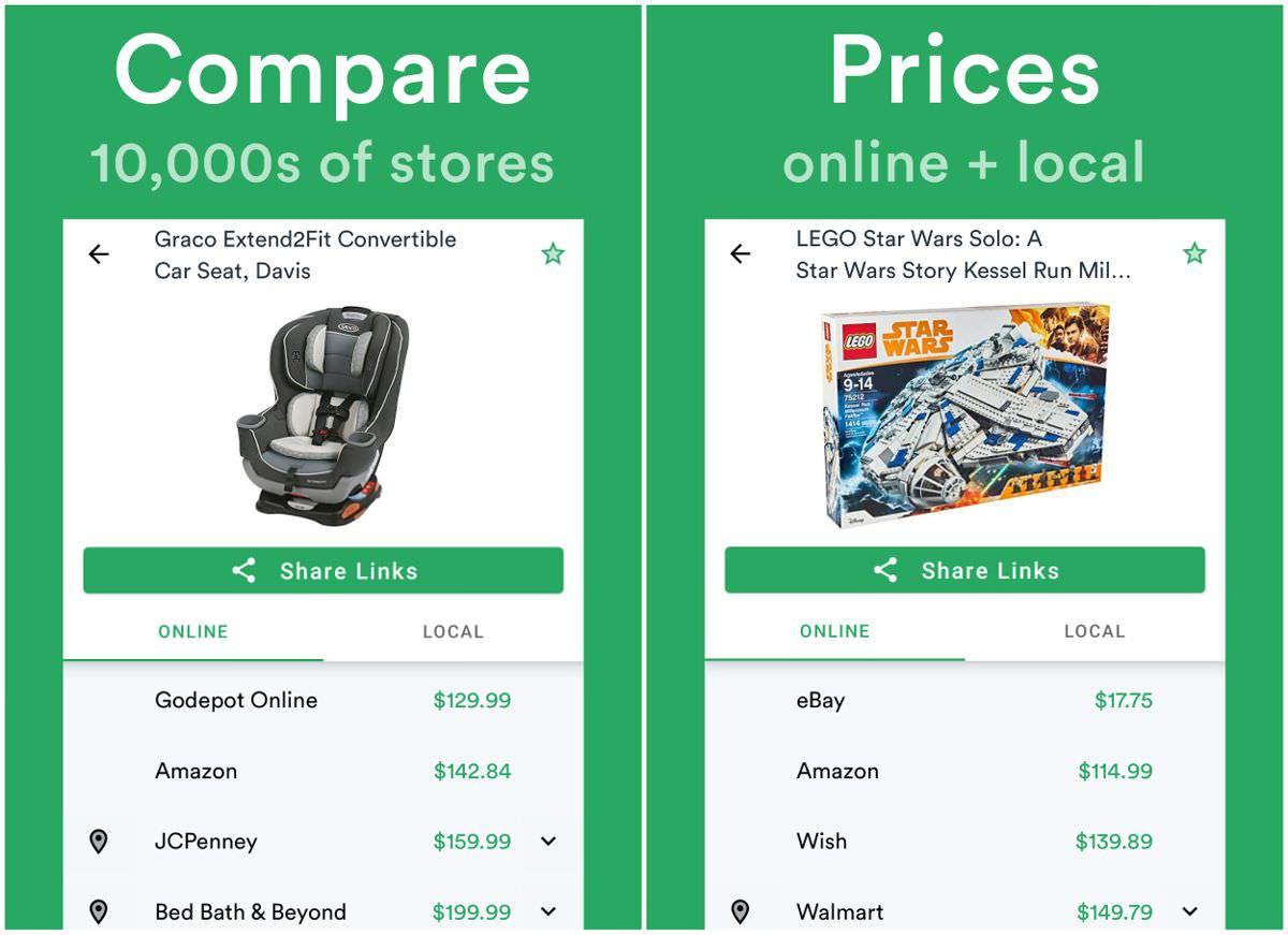 ShopSavvy le permite comparar precios en tiendas en blanco y negro