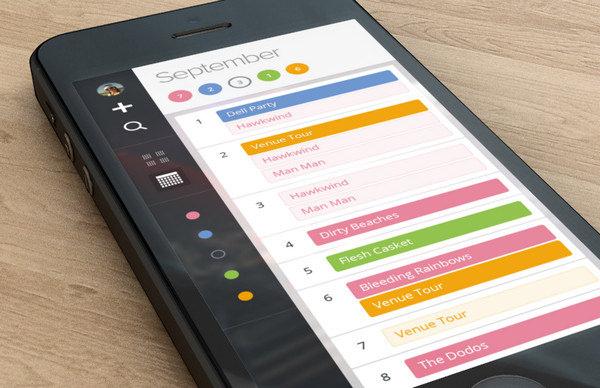 mobile calendar design