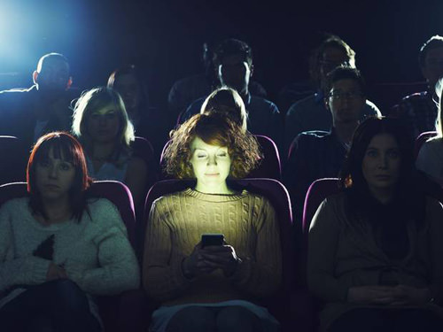 Using A Smartphone In The Cinema