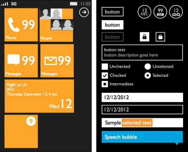 windows phone 7 prototyping template