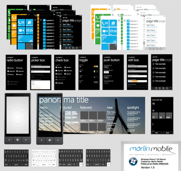 windows phone 7 wireframe