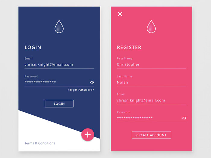 50 Mobile Login and Signup Forms For Your Inspiration - Hongkiat