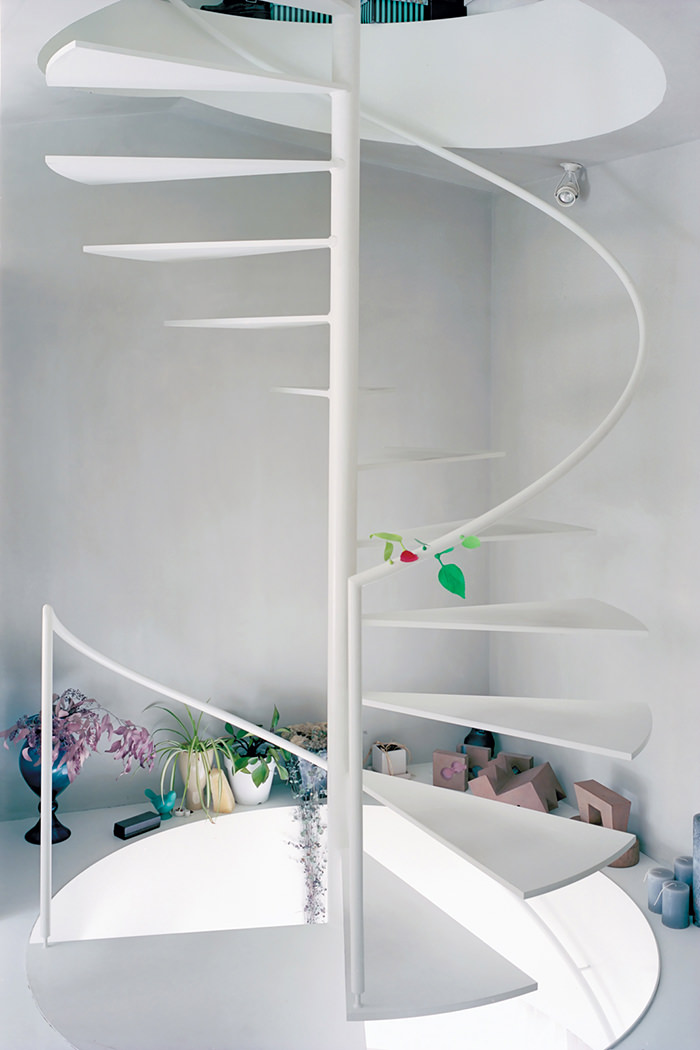 white-spiral-stairs