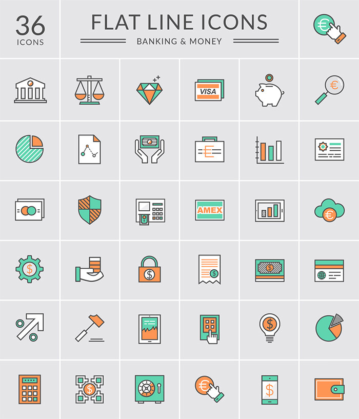 bank-and-money-icons